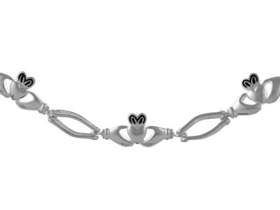 Silver Handmade Celtic Bracelet 7.5