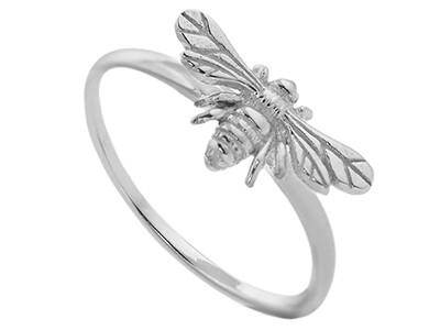 Stirling Silver Bee Ring - Medium