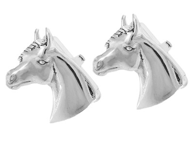 Stirling Silver Horse Head Cufflinks