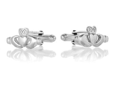 Stirling Silver Claddagh Cufflinks