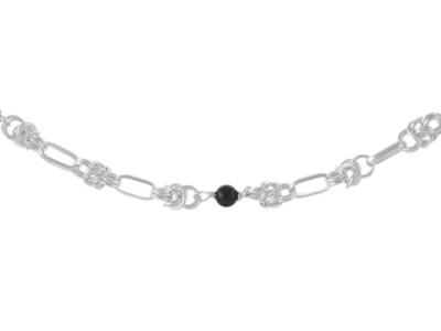 Stirling Silver Black Onyx Handmade Bracelet