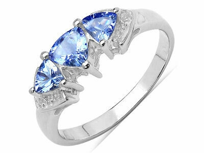Tanzanite and White Topaz Ring
