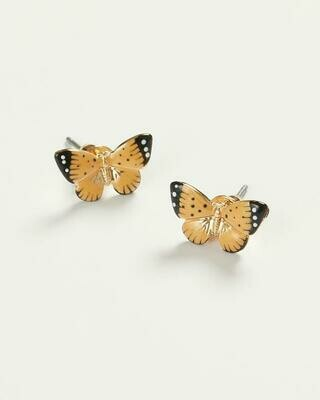 FABLE Enamel Butterfly Stud Earrings