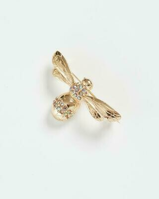 FABLE Pave Bee Brooch