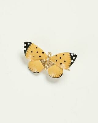 FABLE Enamel Butterfly Brooch