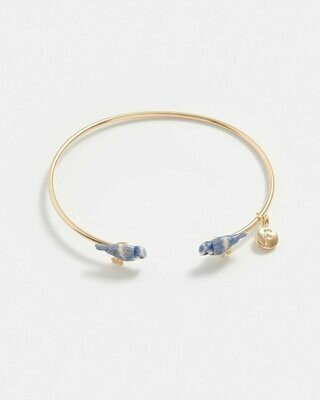 FABLE Enamel Blue Tit Bangle