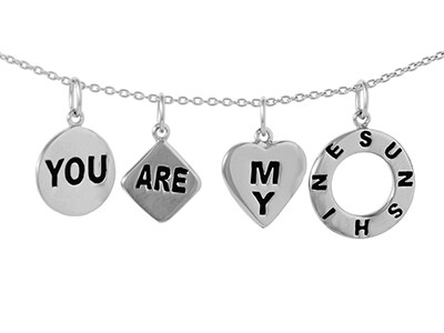 """Silver """"YOU ARE MY SUNSHINE"""" Necklet"""
