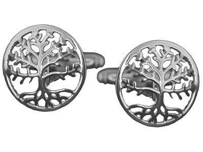 Silver Tree of Life Cufflinks