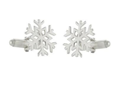 Silver Snowflake Cufflinks