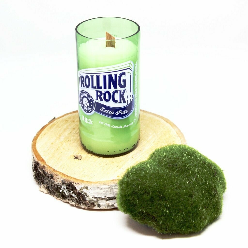 Rolling Rock Beer Candle