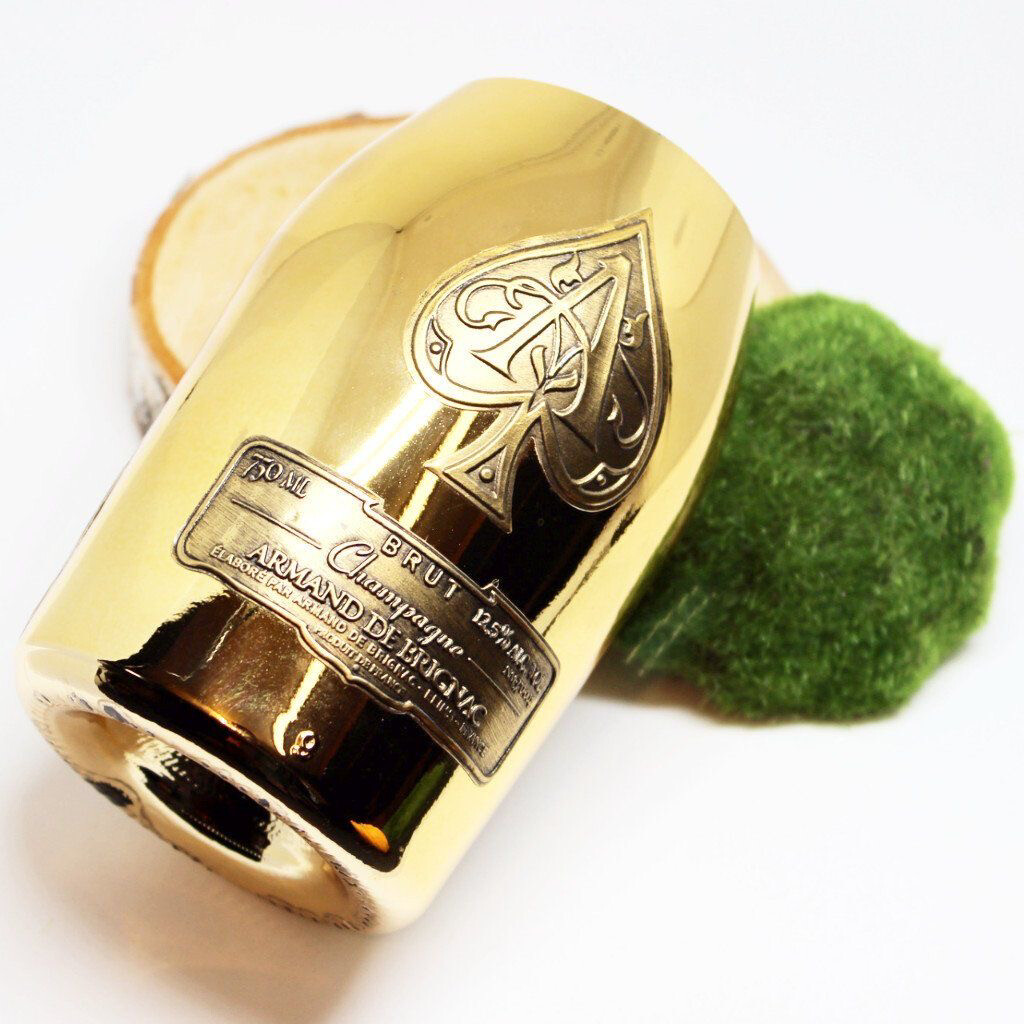 Gold Ace of Spades Champagne Candle