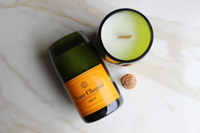 Yellow Label Champagne Candle