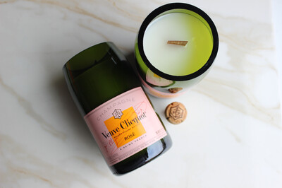 Pink Label Champagne Candle