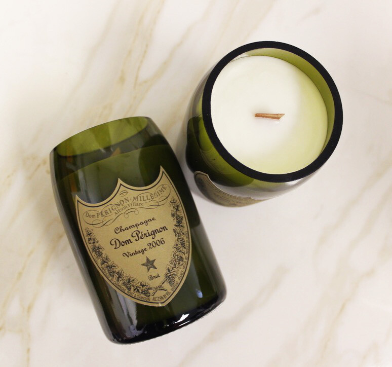 Vintage Champagne Candle