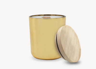 Lustrous Gold Metallic Candle