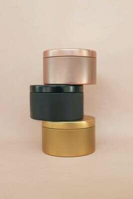 Lustrous Metallic Tin Candle