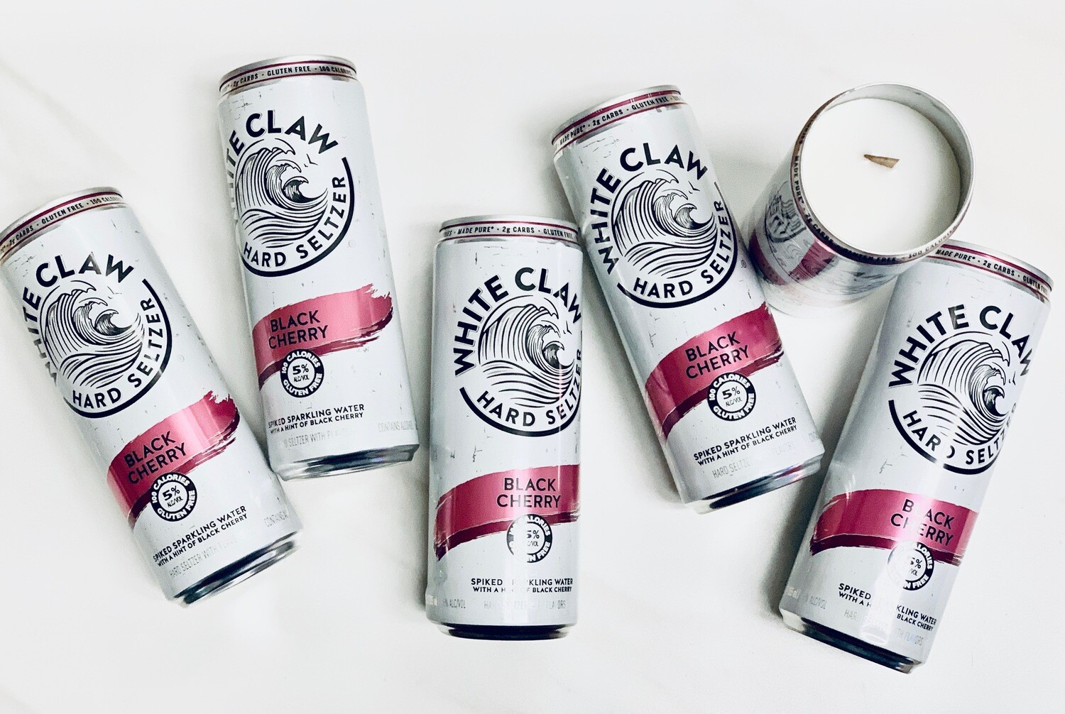 White Claw Black Cherry Candle Package