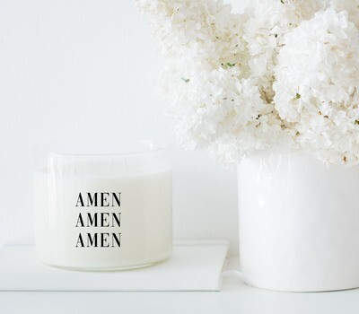 AMEN AMEN AMEN Candle
