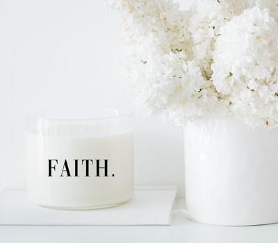 FAITH. Candle