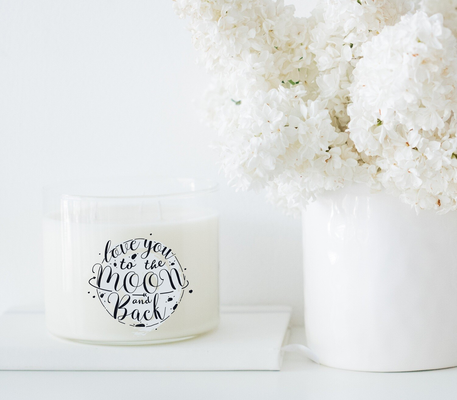 Love You To The Moon And Back Candle