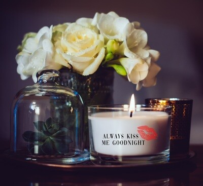 Always Kiss Me Goodnight Candle