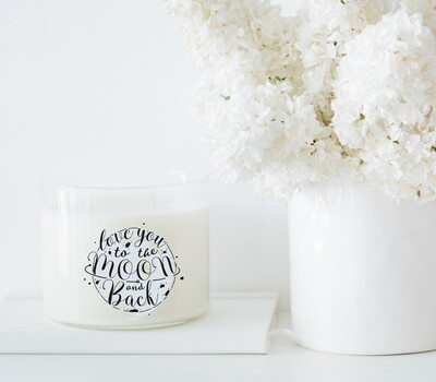 Love You To The Moon And Back Wholesale Candle Set of 6