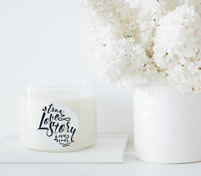 True Love Story Never Ends Wholesale Candle Set of 6