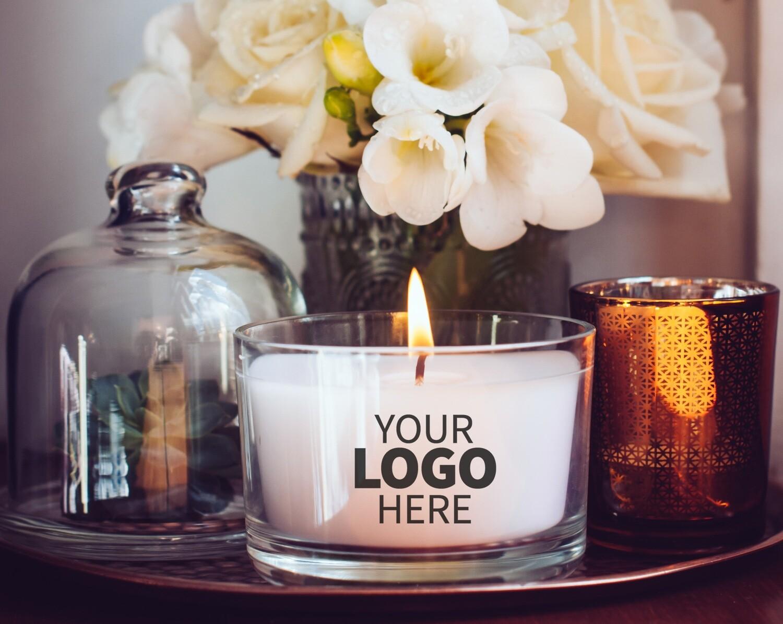 Medium Tumbler Custom Logo Jar Candle Package