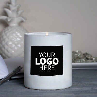 Large White Label Logo Jar Candle Package