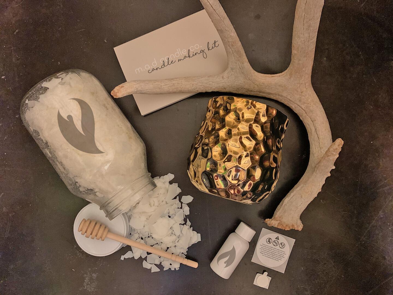 Gold Jar Candle Making Kit Set of 6