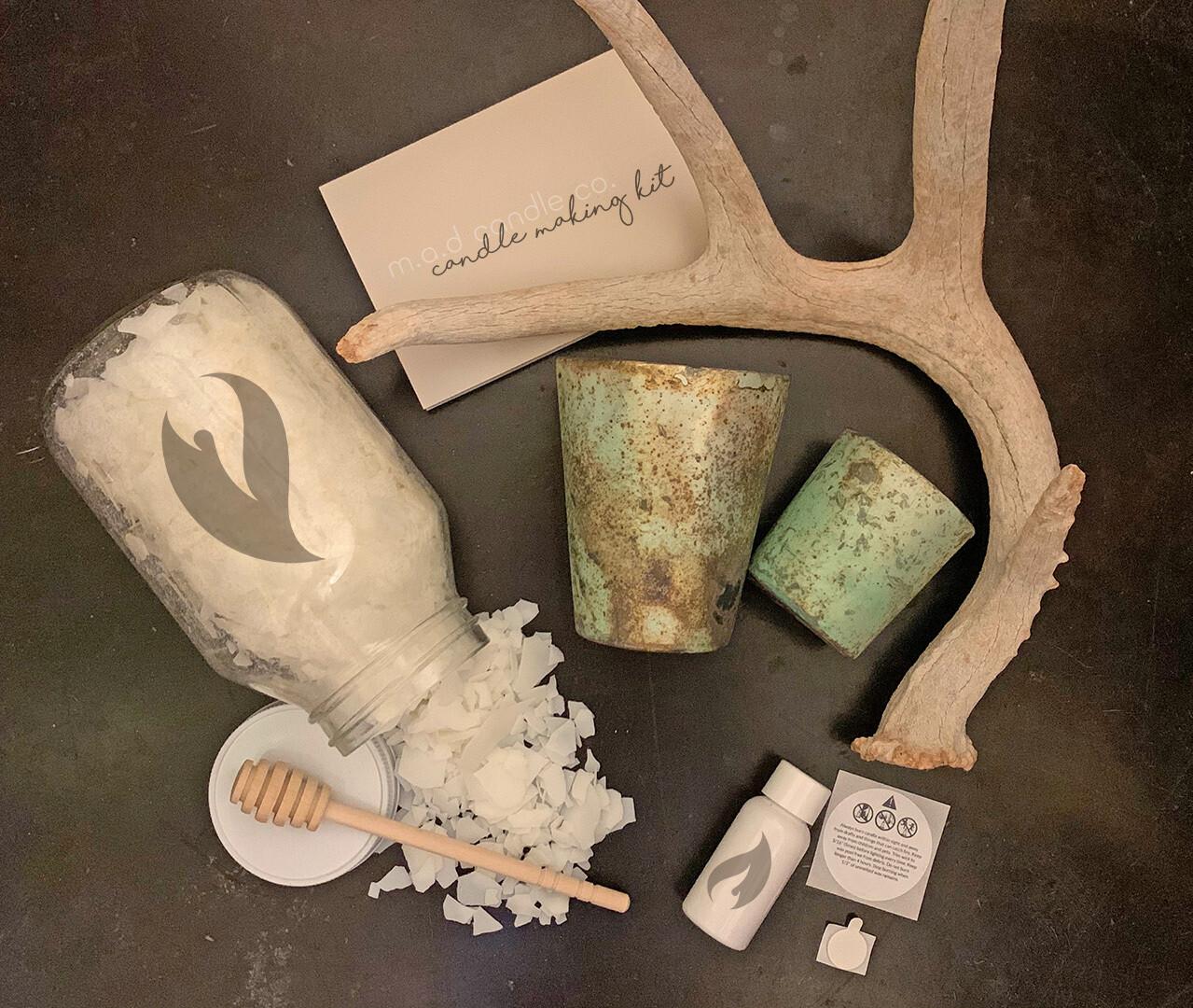 Turquoise Set Jar Candle Making Kit