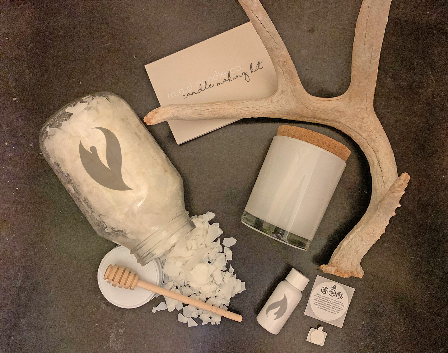 White Jar Candle Making Kit