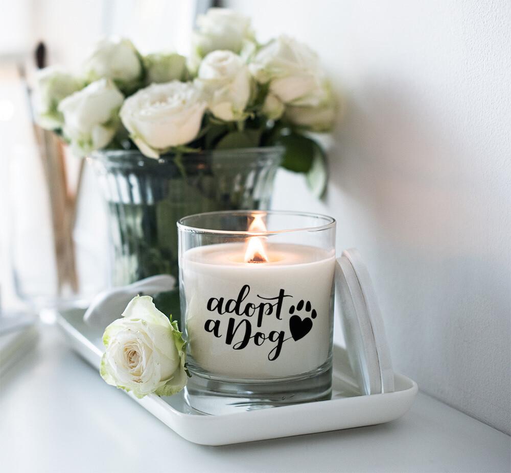 Adopt A Dog Candle