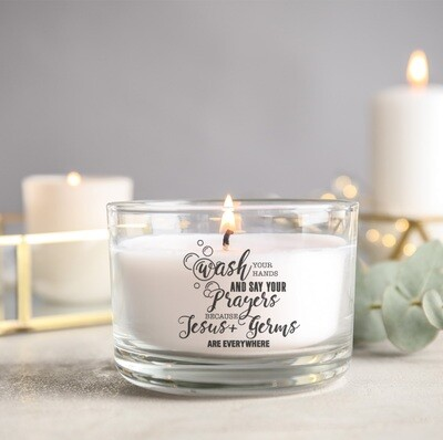 Wash Your Hands + Say Your Prayers Candle