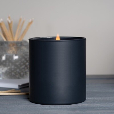Large Black Matte Blank Jar Candle