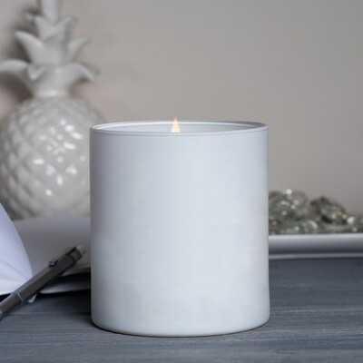 Large White Matte Blank Jar Candle