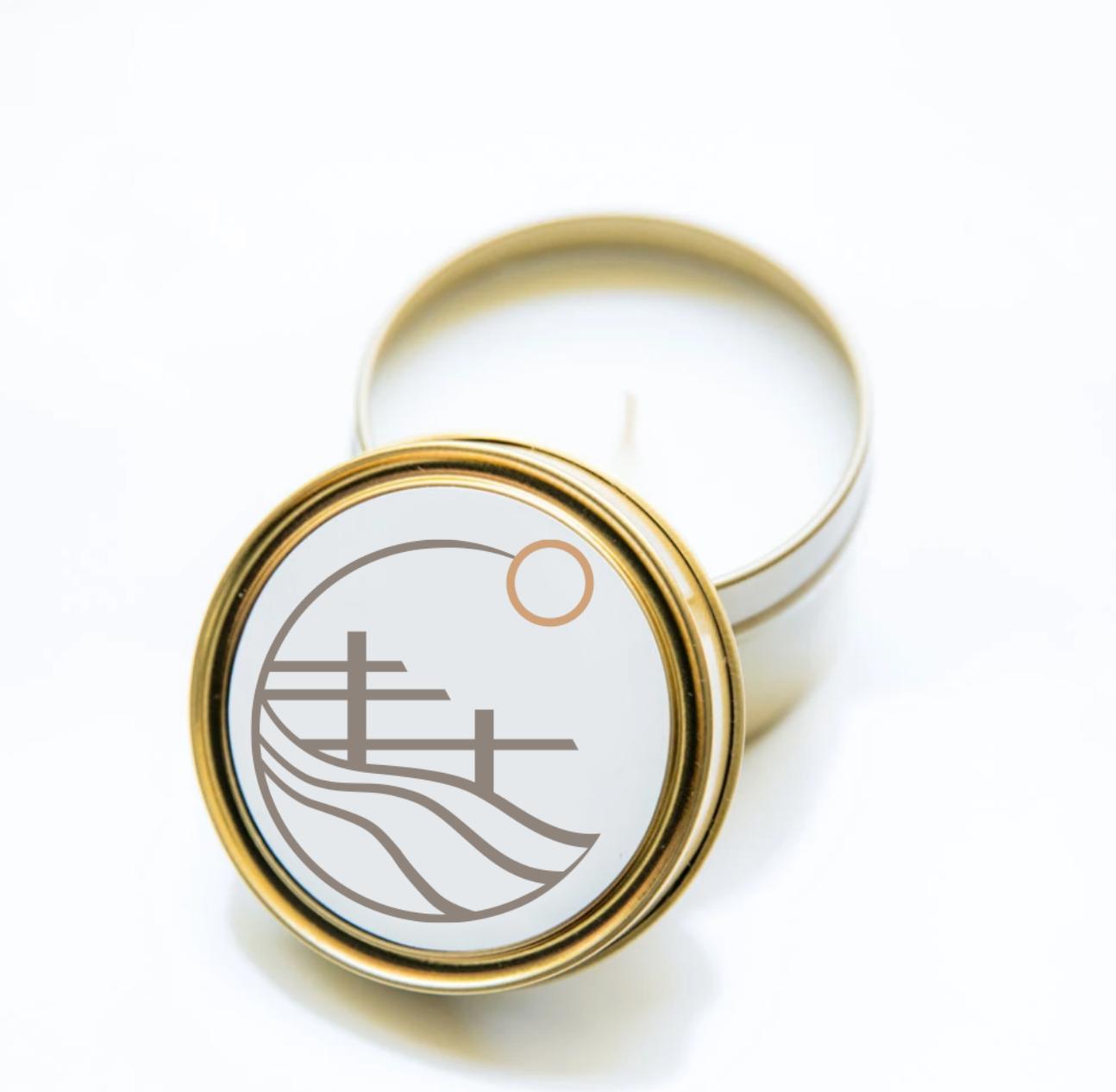 2 oz. Custom Logo Tin Candle