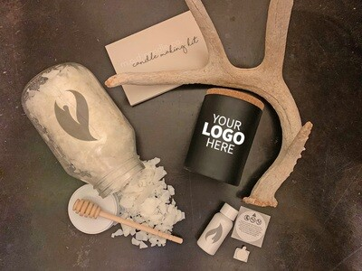 Custom Logo Candle Making Kit Package - Black Jar
