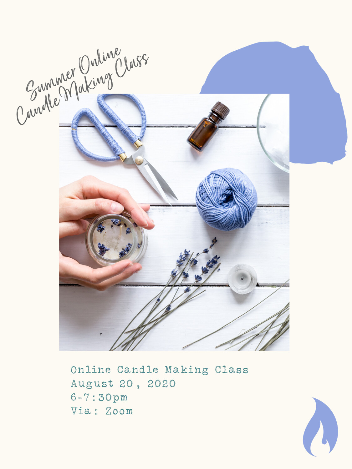 8/20/20 Group - Online Candle Making Class
