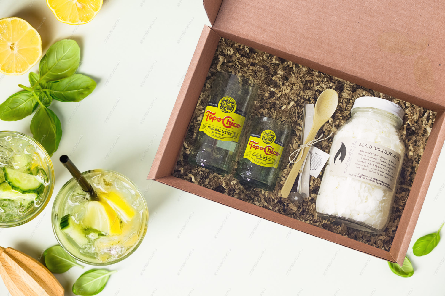 Topo Chico Candle Making Kit