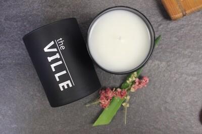 Medium Black Matte Label Logo Jar Candle Package