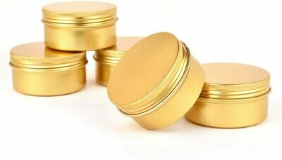 Gold 3 oz Tin Candle