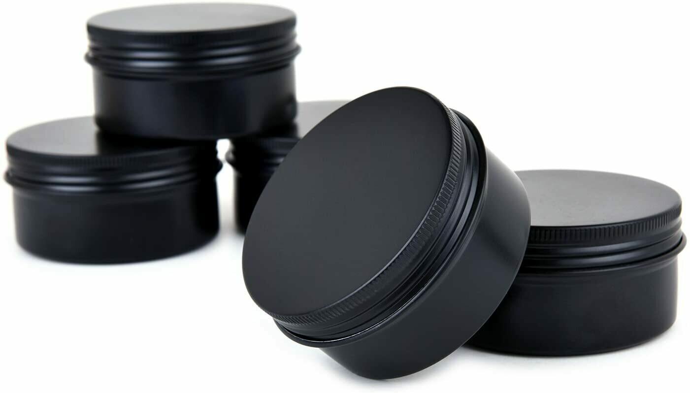 Black 3 oz Tin Candle