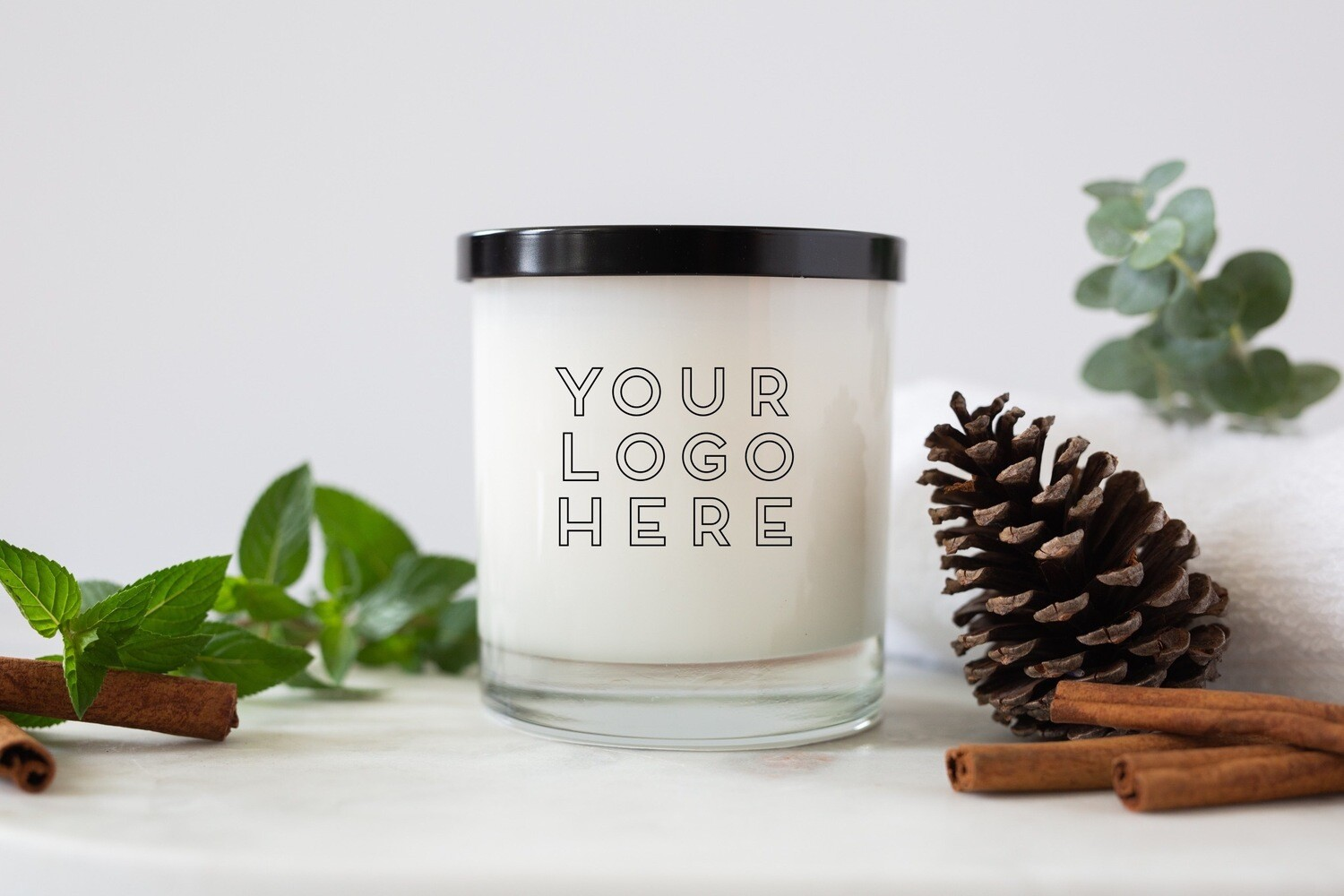Tumbler Custom Logo Jar Candle Package