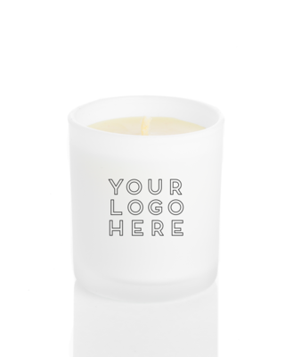 12.5 oz. White Glossy Jar Printed Logo Candle Package