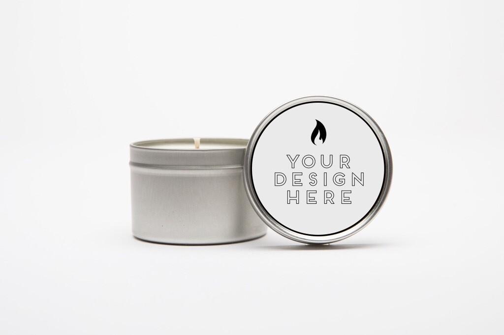 2 oz. Tin Candle With Custom Logo