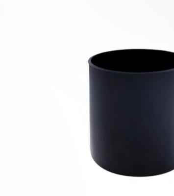 Large Black Matte Blank + Empty Jar
