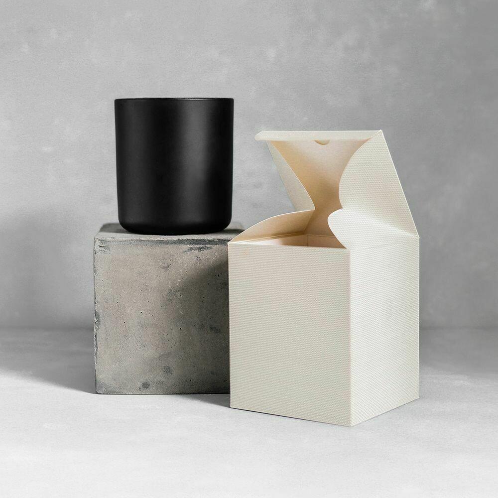 Large Luxury Black Matte Blank Jar Candle