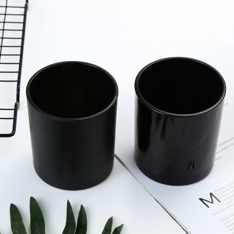 Black Tumbler Blank + Empty Jar