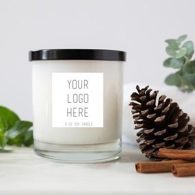 11 oz Tumbler Custom Logo Jar Candle Package